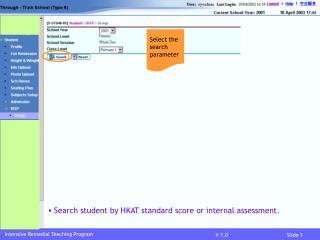 Intensive Remedial Teaching Program
