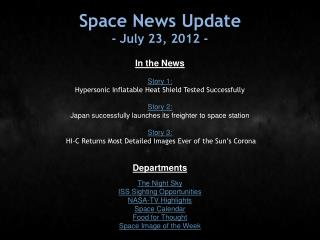 Space News Update - July 23, 2012 -