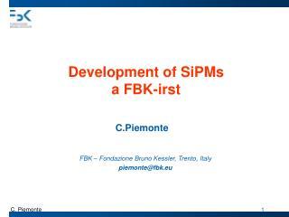 Development of SiPMs a FBK-irst