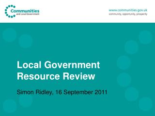 Local Government Resource Review