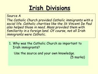 Irish Divisions