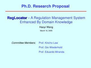 Ph.D. Research Proposal