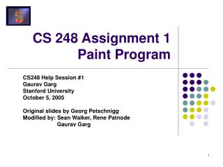 CS 248 Assignment 1 Paint Program