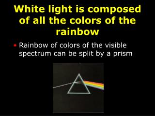 White light is composed of all the colors of the rainbow