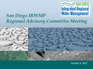San Diego IRWMP Regional Advisory Committee Meeting
