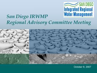 San Diego IRWMP Regional Advisory Committee Meeting