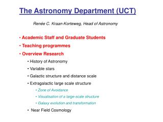 The Astronomy Department (UCT)