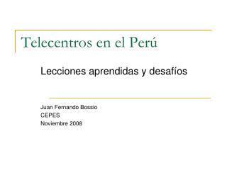 Telecentros en el Perú