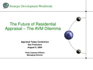 The Future of Residential Appraisal   The AVM Dilemma
