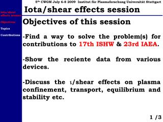 -Find a way to solve the problem(s) for contributions to  17th ISHW  &  23rd IAEA .