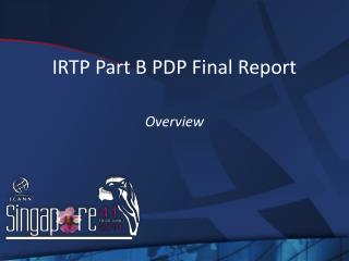 IRTP Part B PDP Final Report