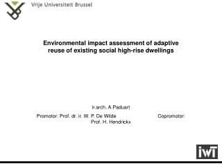 Environmental impact assessment of adaptive reuse of existing social high-rise dwellings