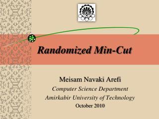 Randomized Min-Cut