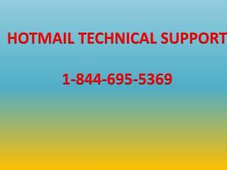 1-844-695-5369| Hotmail Tech Support phone number, Toll Free