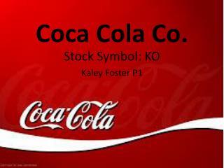 Coca Cola Co.