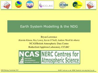 Earth System Modelling & the NDG