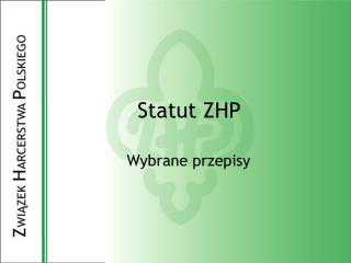 Statut ZHP