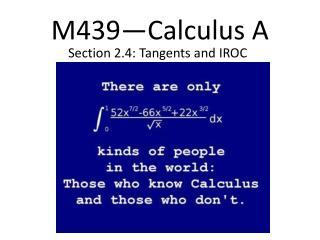 M439�Calculus A