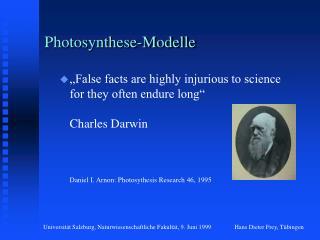 Photosynthese-Modelle