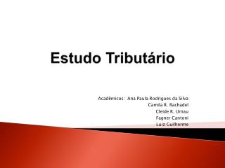 Estudo Tributário