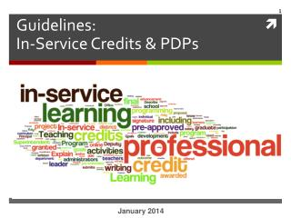 Guidelines: In-Service Credits & PDPs