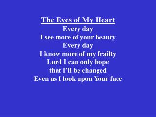 The Eyes of My Heart 2