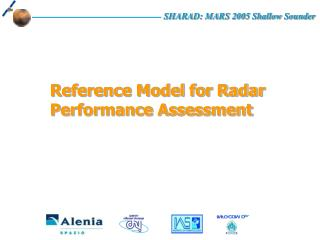 Reference Model for Radar Performance Assessment