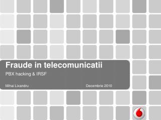 Fraude in telecomunicatii