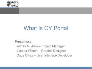 What Is CY Portal