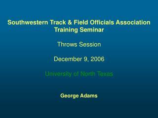 Southwestern Track  Field Officials Association