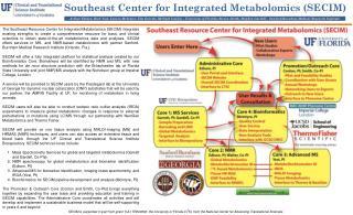 Southeast Center for Integrated Metabolomics (SECIM)