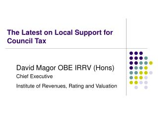 The Latest on Local Support for Council Tax