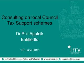 Consulting on local Council Tax Support schemes