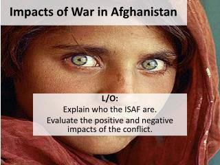 Impacts of War in Afghanistan