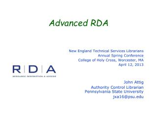 Advanced RDA
