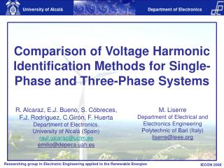 Comparison of Voltage Harmonic Identification Methods for Single-Phase and Three-Phase Systems