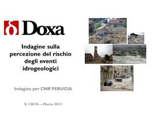 Indagine sulla percezione del rischio degli eventi idrogeologici