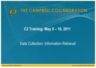 C2 Training: May 9 – 10, 2011