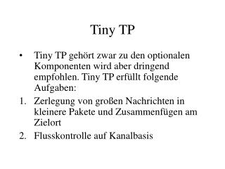 Tiny TP
