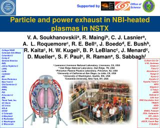 Particle and power exhaust in NBI-heated plasmas in NSTX