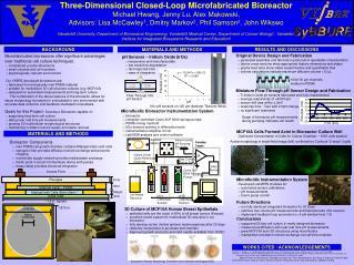 Three-Dimensional Closed-Loop Microfabricated Bioreactor Michael Hwang, Jenny Lu, Alex Makowski,
