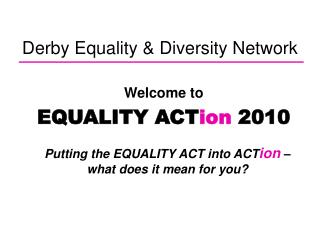 Derby Equality & Diversity Network