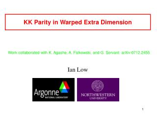 KK Parity in Warped Extra Dimension