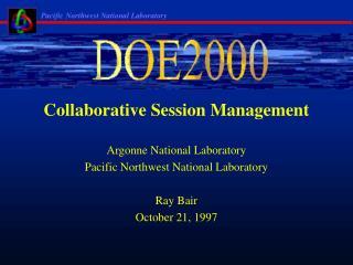 Collaborative Session Management