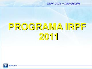 PROGRAMA IRPF 2011