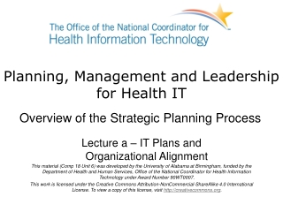 Information Technology Initiatives  Health Information Strategic Plan