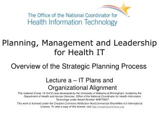 Information Technology Initiatives  Health Information Strategic Plan