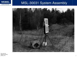MSL-30031 System Assembly