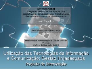 Projecto de Intervenção