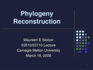 Phylogeny Reconstruction